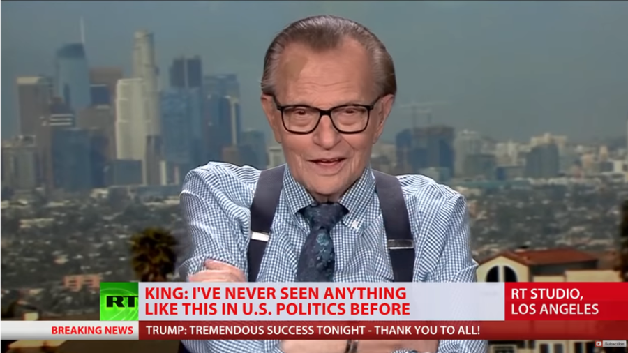 'Trump controls the media' – Larry King talks midterms with RT (VIDEO)