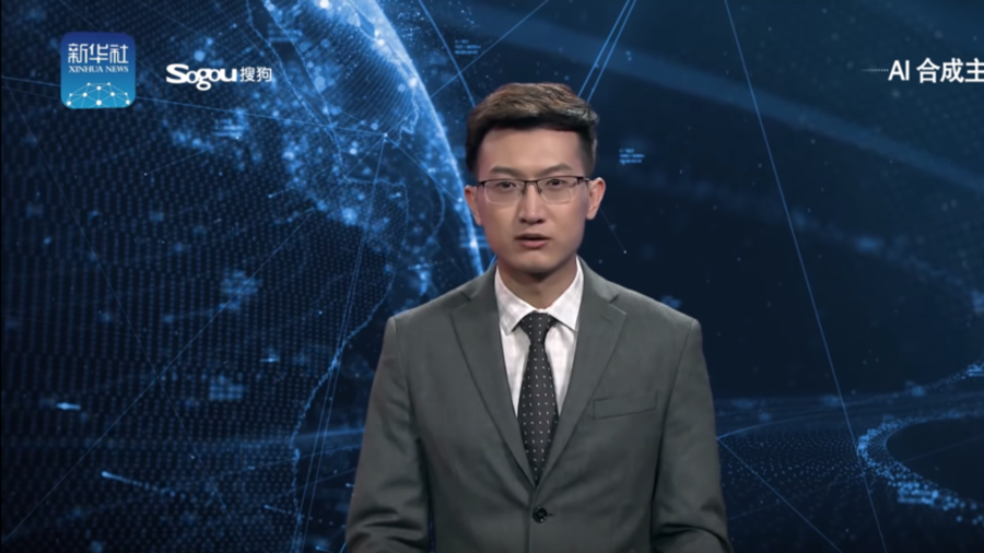 Chinese state media debuts robot news anchors