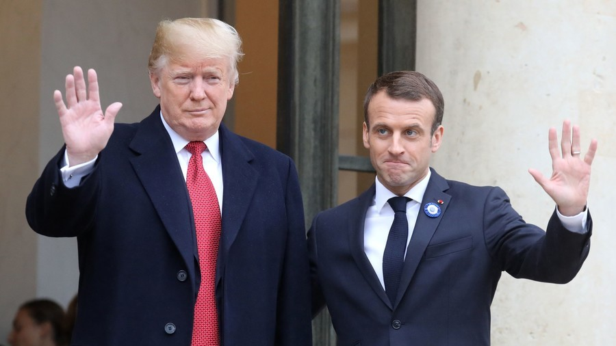'Misunderstanding'? Trump & Macron agree on need for 'strong Europe' after Don bashes EU army