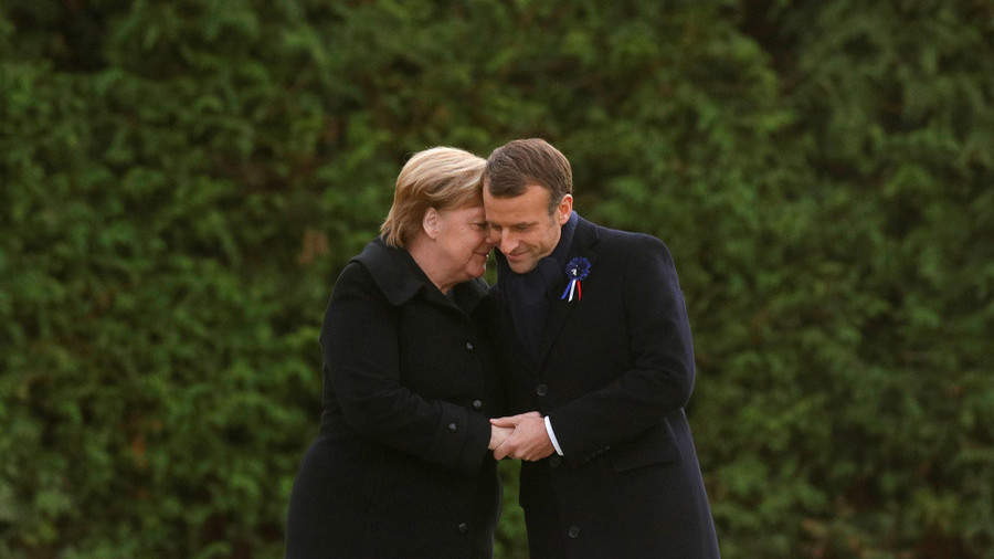 Merkel joins Macron in calling for a 'real, true European army'