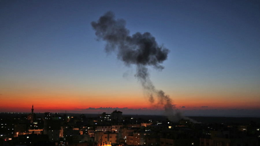 Israeli fighter jets strike dozens of Gaza targets as 300 rockets rain down on towns (VIDEOS)