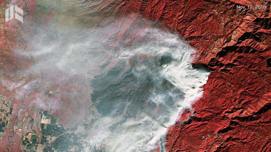 California 'hellscape' visible from space as wildfires rage on (PHOTOS)