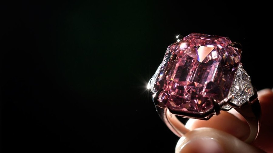 Ultra-rare 'Pink Legacy' diamond fetches record $50 million