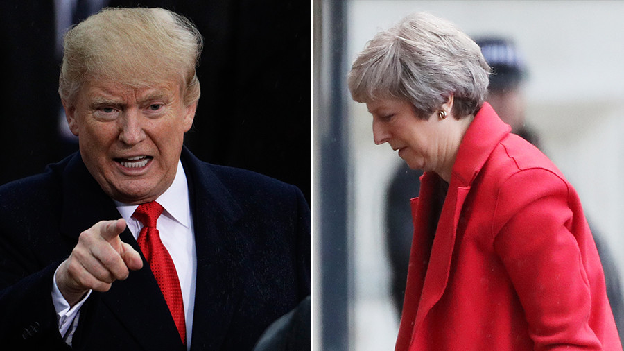 Trump rips Theresa May in phone call, echoes Macron, Trudeau attack