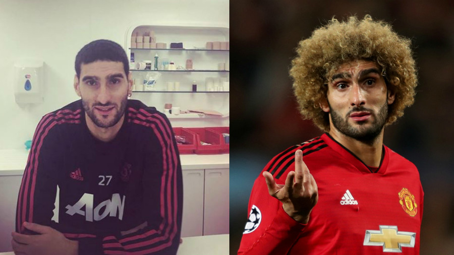'He's no longer a microphone!': Sports world reacts with shock & awe to Fellaini afro chop (PHOTOS)