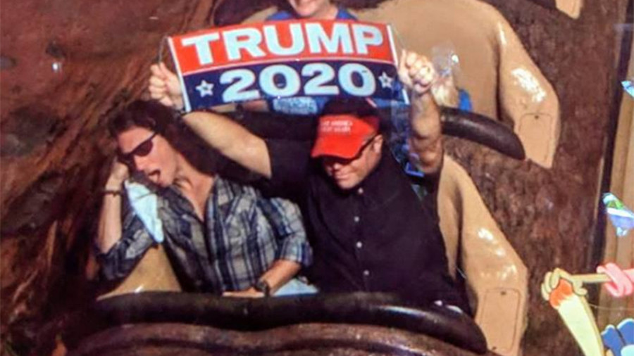 Never return to Neverland: Banner-waving Trump supporter banned from Disney World