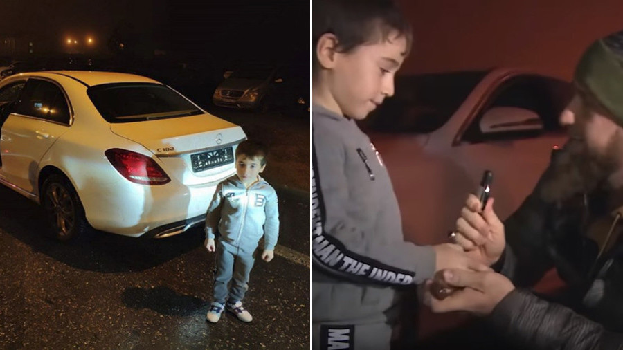 Kadyrov presents Mercedes to 5yo 'Chechen Schwarzenegger' after 4,105 push-ups 'record' (VIDEO)