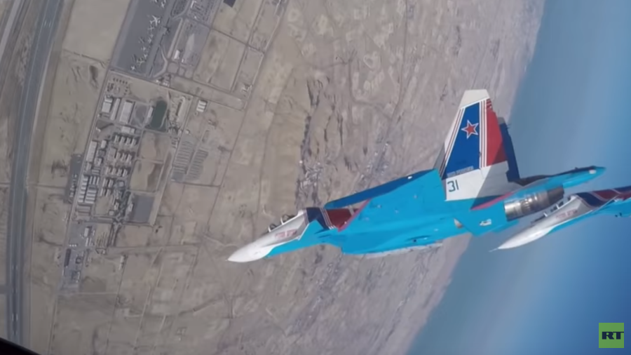 Legendary 'Russian Knights' dazzle Bahrain airshow with stunning aerobatics (VIDEO)