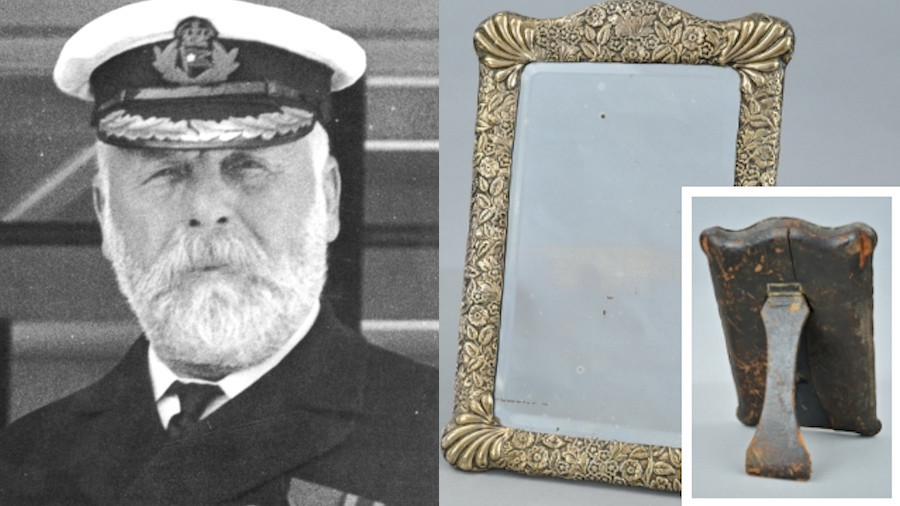 'Haunted mirror' owned by Titanic's doomed captain could fetch £10k (PHOTOS)
