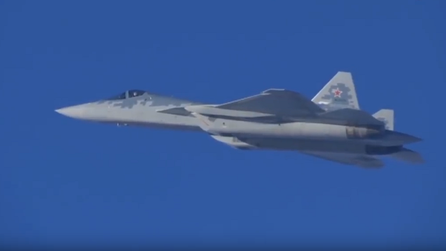 WATCH Russia's Su-57 stealth jets fly their 1st combat mission in Syria in rare MoD VIDEO