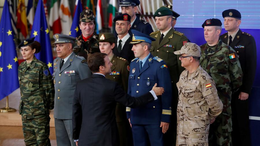 Euro army: UK Def Sec Williamson blasts Merkel & Macron's idea as 'crazy'