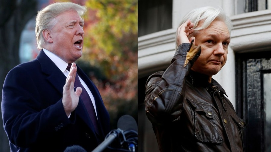 Trump says he 'does not know anything' about Assange, gets called out on hypocrisy