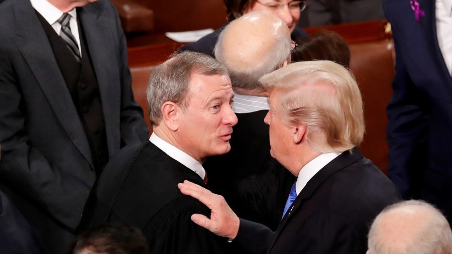 Trump, Chief Justice Roberts engage in rare dispute