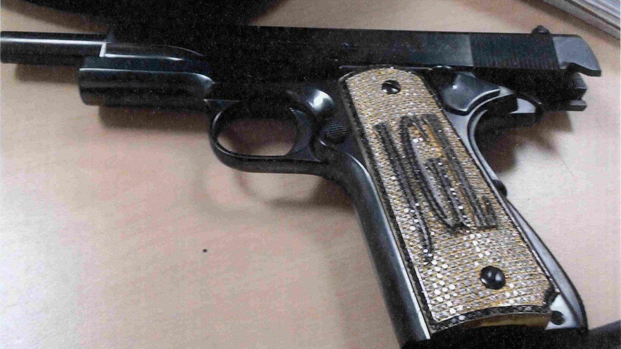 El Chapo's phenomenal diamond encrusted pistol finally revealed (PHOTO)