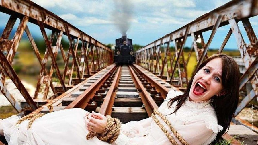 Poster of tied woman to be killed by speeding train doesn't promote violence – French court