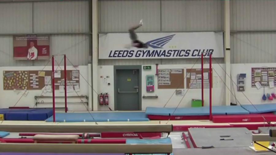 Flippin' amazing: UK gymnast sets incredible backflip world record on horizontal bars (VIDEO)