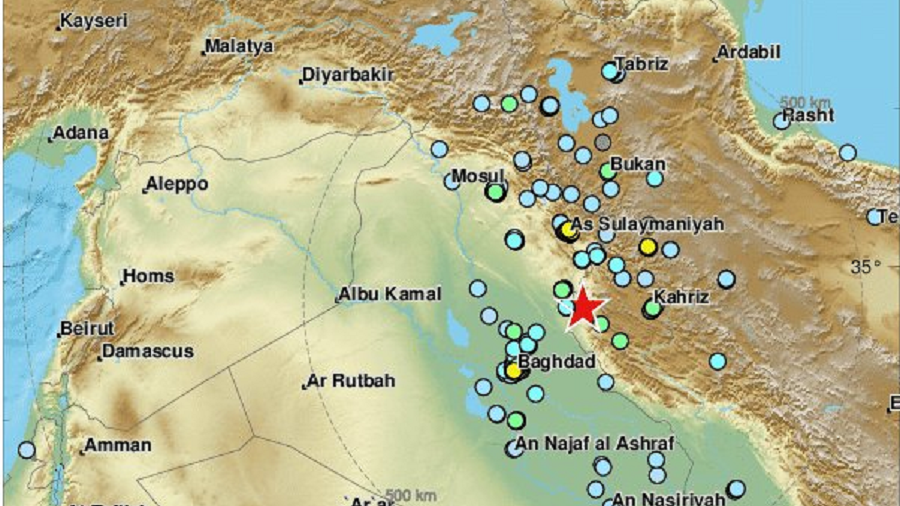6.3 magnitude earthquake hits Iran-Iraq border