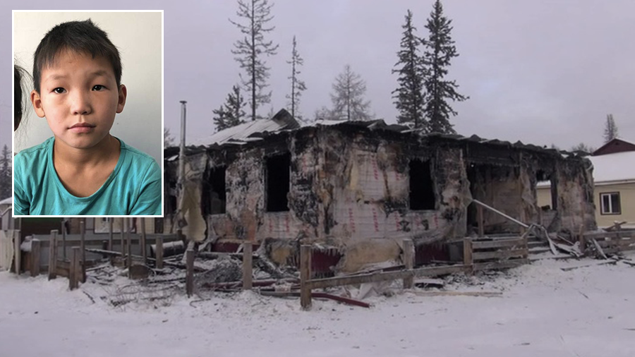 10yo Siberian boy saves 4 children from house fire – but their mother dies in flames