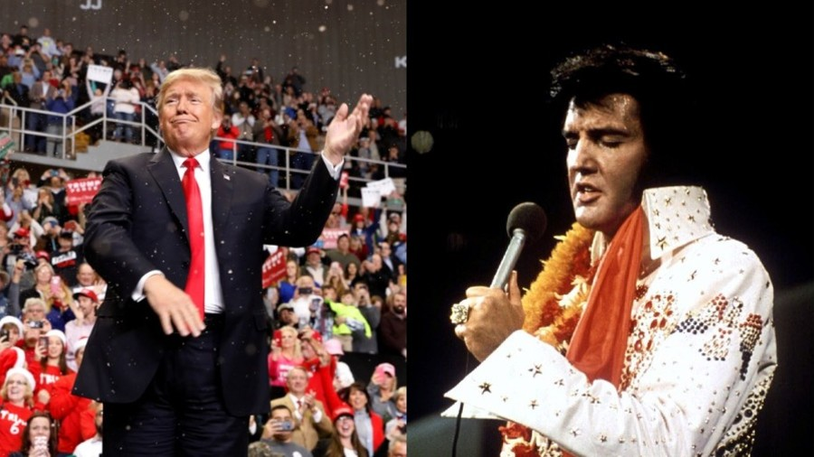 Trump says he used to 'look like Elvis'
