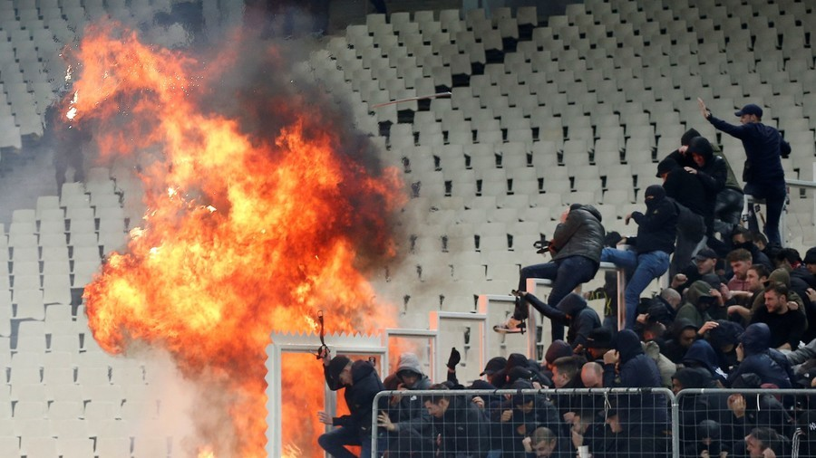 AEK Athens & Ajax charged after petrol bomb attack & clashes at Champions League game (VIDEO)