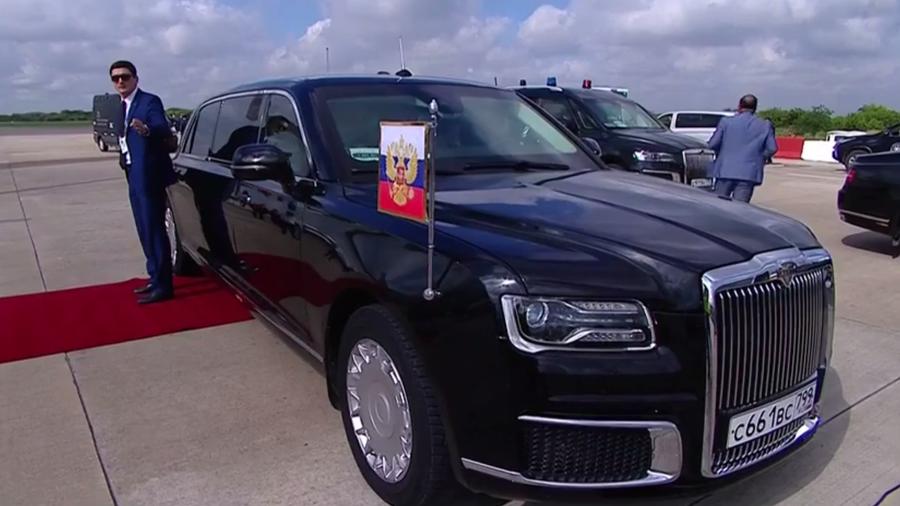 Putin brings his wheels: Aurus motorcade meets top man in Buenos Aires (PHOTOS, VIDEO)