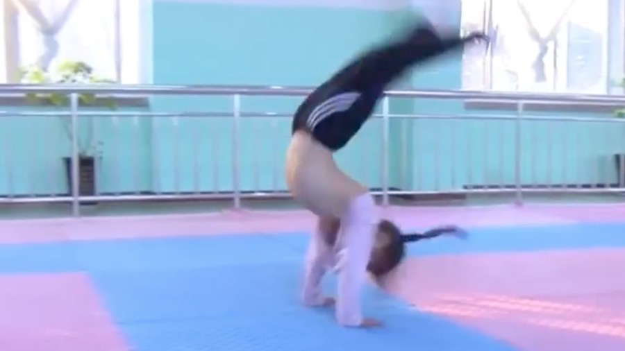 Incredible footage of backflipping Chinese children wows the internet (VIDEO)