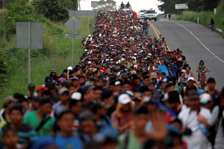 Migrant caravan members sue Trump for violating their 'constitutional rights'