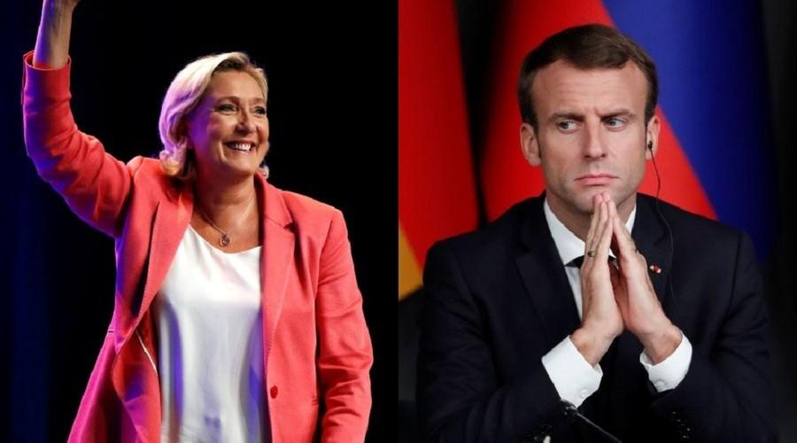 Le Pen's Eurosceptic party beats Macron's in EU parliamentary election poll