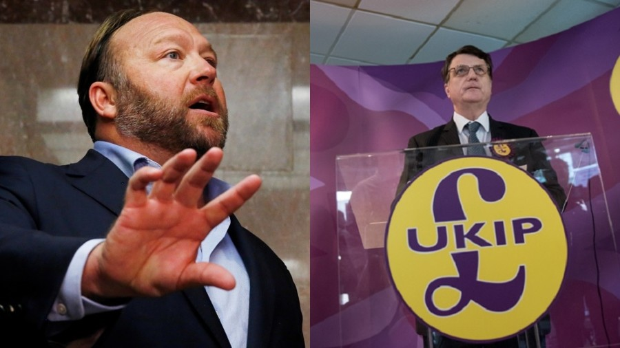 Jewish groups call on UKIP to break up with 'vile' Alex Jones' Infowars in anti-Semitism row