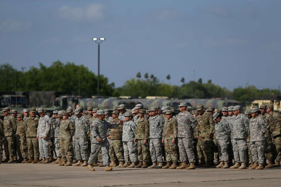 Pentagon says troops won't 'come in contact' with caravan migrants at Mexico border