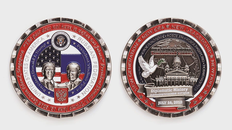 Helpinksi? White House commemorative coins from Trump-Putin Helsinki summit get a few things wrong