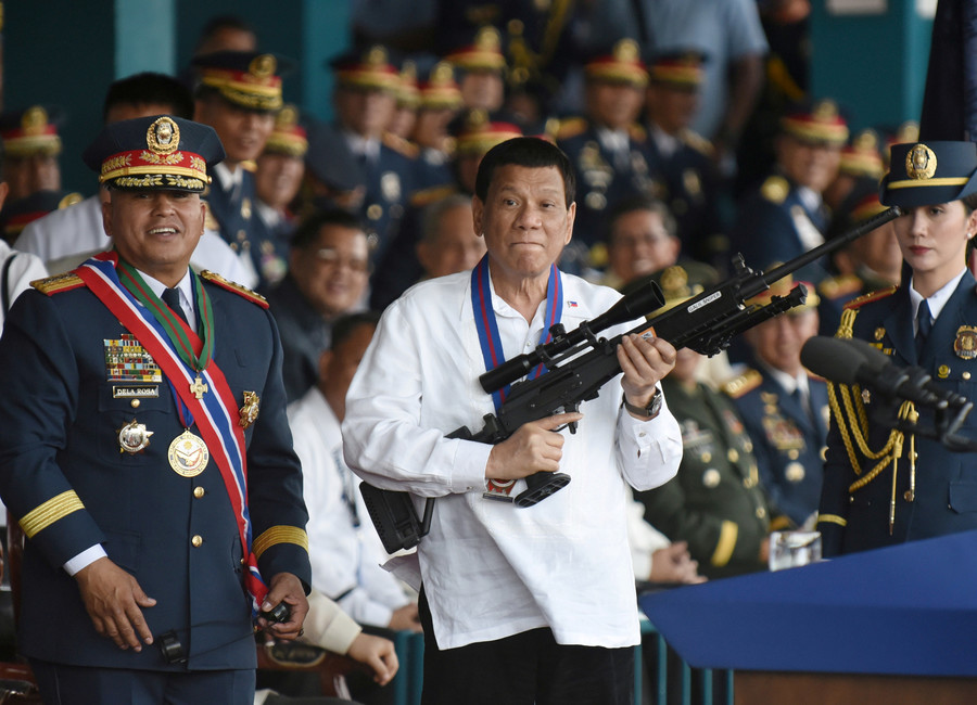 'I will give you a prize': Duterte offers cash reward & holiday for killers of crooked cops