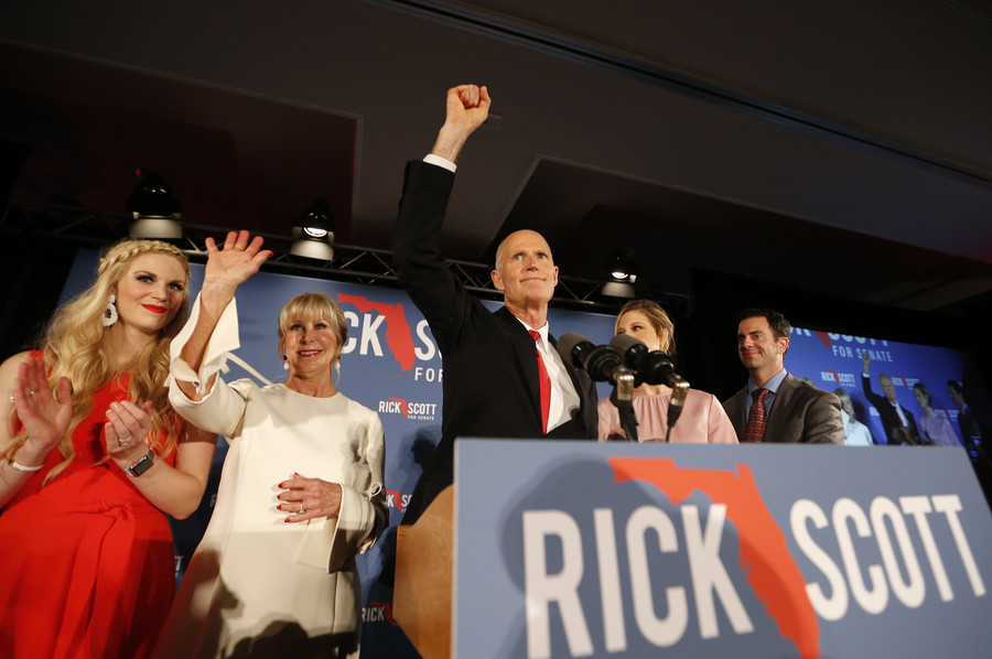 Florida Gov. Rick Scott sues 2 Democratic strongholds over election 'theft' as recount looms