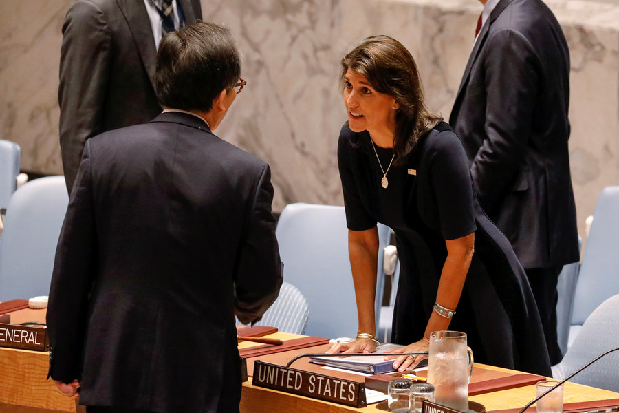 US won't let Russia ease North Korea sanctions, Haley says