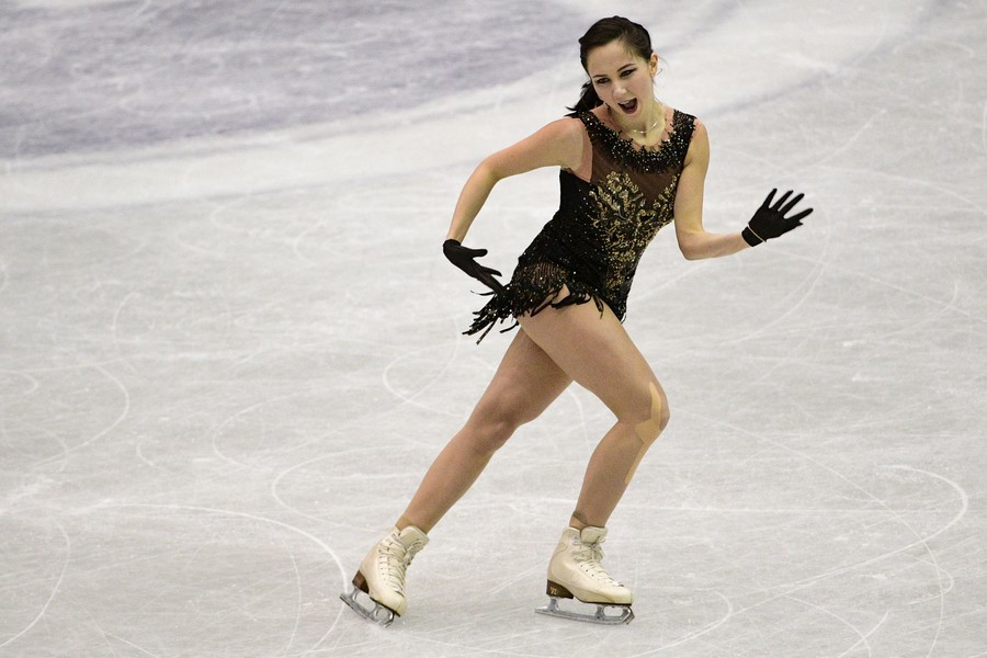 Russian figure skating star's 'striptease' routine nearly became REAL STRIPTEASE during performance