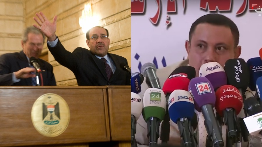 Sole brothers? Ex-Houthi minister shoed like George W. Bush at Saudi defection presser