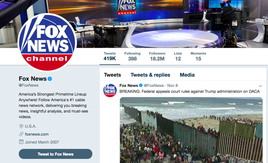 Fox News Twitter account on 'silent protest' over response to Tucker Carlson threats