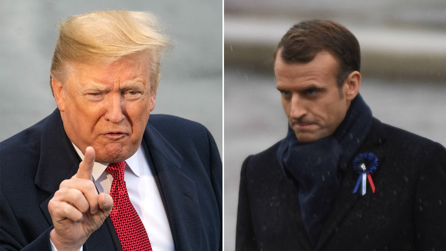 'They were starting to learn German in Paris before US came along' – Trump taunts Macron