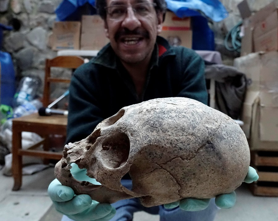 Ancient 500-year-old Inca bones and relics found hidden in Bolivian quarry (PHOTOS)
