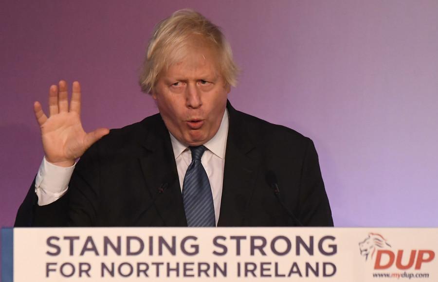 BoJo calls for NI-Scotland bridge, dropping Brexit divorce payments at DUP conference