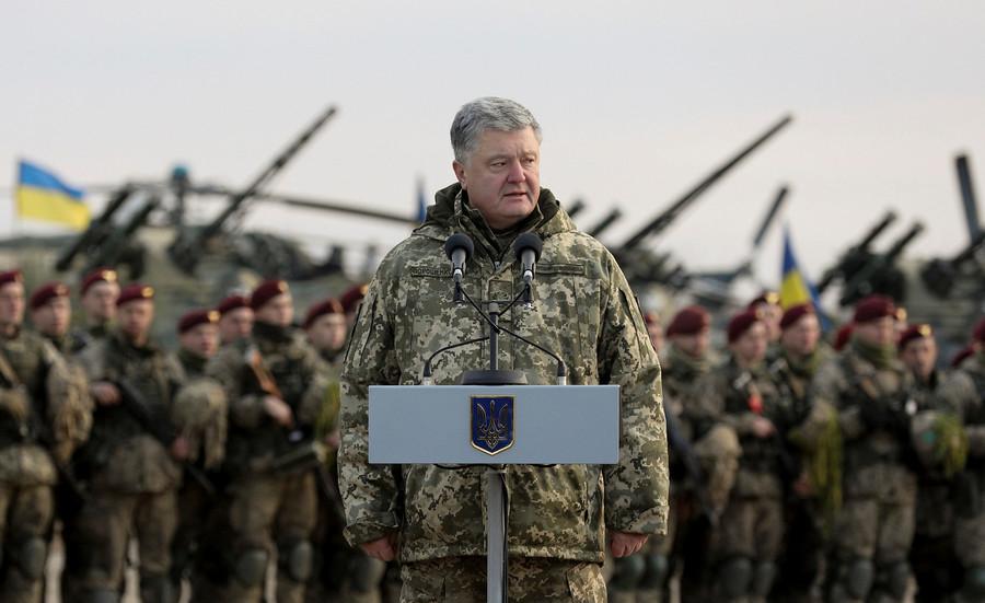 Ukraine parliament backs Poroshenko's 30-day martial law in Russia border areas after Kerch standoff