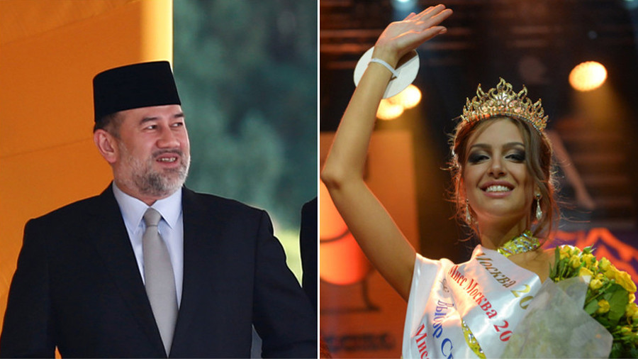 From little 'bandit' to queen: Ex-Miss Moscow marries Malaysian king (PHOTOS)
