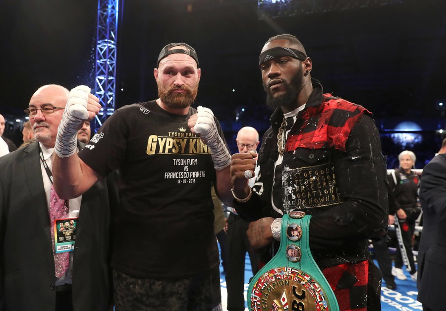 Deontay Wilder and Tyson Fury clash at news conference