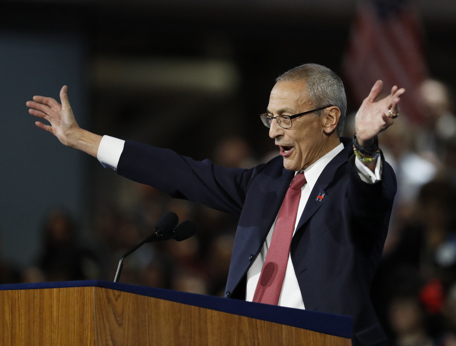 John Podesta styling himself as a climate change expert in Guardian article