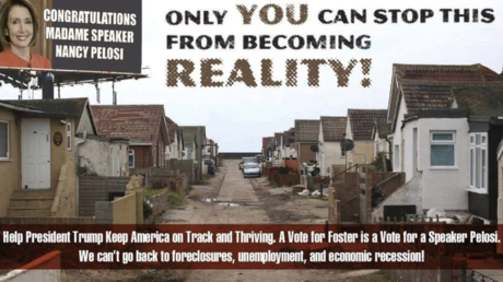 Republican ad warning of bleak future under Democrats features derelict English village