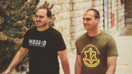 Image of Bolsanaro's sons wearing pro-IDF & Mossad shirts goes viral