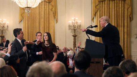 CNN's Acosta denied entry to White House following aggressive Trump press-conference