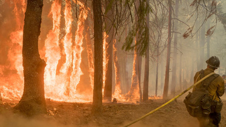 5be4dc79dda4c876438b45dd Infernal wildfire visible from space sends California residents fleeing (PHOTOS, VIDEO)