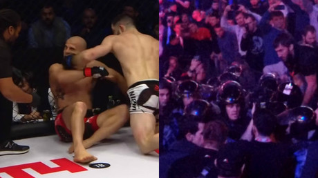 Russian MMA promotion fires fighter after mass brawl & 'sex assault' threats against rival