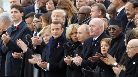 Putin chats with Trump, Macron thrashes nationalism at WWI centenary in Paris